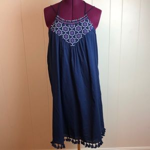 Loft Outlet Blue Baby Doll Boho Dress